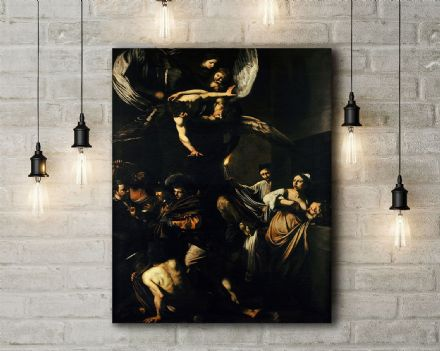Caravaggio: The Seven Works of Mercy. Fine Art Canvas.